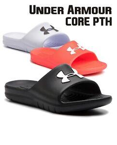 Under Armour CORE PTH Mens Slides UA Sliders Summer Beach Shoes Sandal 3021286