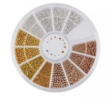 Nagelkunst Nailart Fingernägel Perlen Gold silber roségold Verziehrung Deko