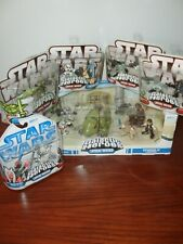 """STAR WARS GALACTIC HEROES ESCAPE FROM MOS EISLEY SHAAK TI YODA FIGURES 2"""" NEW"""