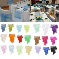 """23"""" x 108"""" Wider 25pcs Organza Table Runner Chair Cover Bows Sashes Event decor"""