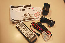 RCA 7L400MDV MOBILE DVD PLAYER MANUAL, REMOTE, POWER SUPPLY, AND CAR ADAPTOR