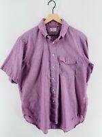 Vintage Orvis - Men's 'XL' - Pink Pinstripe Casual Short Sleeve Shirt - USA Made