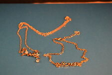 "Set: ""LOVE""  NECKLACE  PENDANT & Large ANKLE BRACELET  Jewelry  NEW!  USA SELLER"