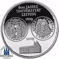 Deutschland 10 Euro Universität Leipzig 2009 Silber-Gedenk-Münze Spiegelglanz