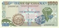 Vintage Ghana Banknote 1993 1000 Cedis Pick 29b Diamonds UNC US Seller