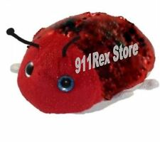 Sequinimals Ladybug Sequin Plush Pet Toy Red Black Lady Bug Beetle Adventure New