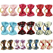 20PCS Dog & Puppy Hair Bands Top Knot Grooming Bows Dog Hairclips Accessory