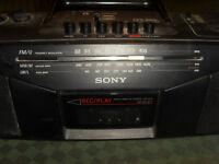 Ancien Lecteur K7 cassette à bande Sony Radio Vintage sans antenne FM CFS 204 L