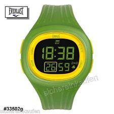 Everlast: LCD-Armbanduhr grün #33502g mit Licht Herren/Damen Multi-Funktion +Box