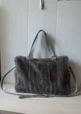 Handmade womans ladies 100% Genuine Real mink fur, big size, fur bag
