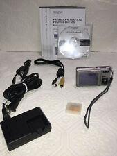 Olympus FE-360 8.0MP Digital Camera - Silver Bundle
