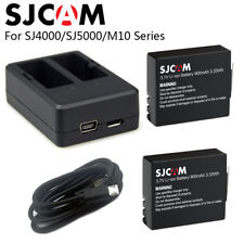 SJCAM SJ4000 Battery+Dual Charger 900mAh Rechargable 3.7V Li-ion Batteries