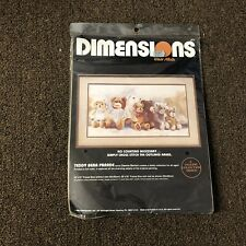 Teddy Bear Parade Dimensions Cross Stitch Craft Kit 3613 New Vintage 1986 USA