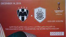 TICKET Voucher FIFA Club World Cup 14.12.2019 Monterrey - Al Sadd # Match 3