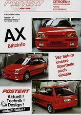 Citroën AX Postert Prospekt 1986 Citroen Autoprospekt Broschüre brochure Auto