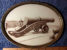 "MOMS meg edinburgh castle CANNON IN 6""by9"" OVAL FRAME PHOTO 1890s-1900 #c7015ph"