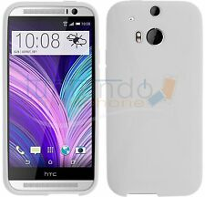 FUNDA de GEL TPU BLANCA para HTC ONE 2 M8 en ESPAÑA CARCASA