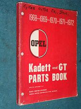 1968-1972 BUICK OPEL  & OPEL GT  PARTS CATALOG / ORIGINAL BOOK 68 69 70 71 72