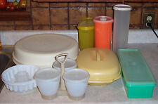 27 Piece Tupperware Lot - Vegetable Tray, Vegetable Steamer, 7 pc Condiment Set