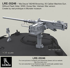Live Resin 1/35 WWII M2HB Browning .50 Calibre Machine Gun w/o Flash Hider