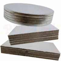 Cake Boards BULK 5 PACK Round Square Oblong Silver Strong Drum Board 12mm Thick