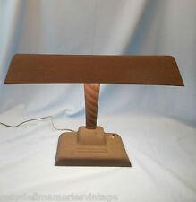 vintage MCM desk lamp banker student Industrial art deco florescent metal 1 of 2