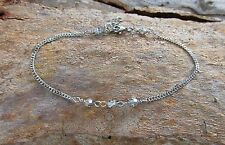 Extension Anklet made with Swarovski Elements Crystals and Stainless Steel Chain