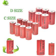 GTL 4/6/8/10/pcs C/D Size C D 1.2V 10000/13000mAh NI-MH Rechargeable Batteries