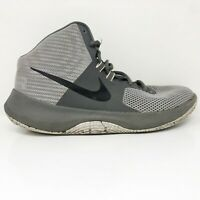 Nike Mens Air Precision 898455-004 Gray Basketball Shoes Lace Up Mid Top Size 9