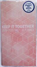 KEEP IT TOGETHER  Pink  2019-2020 TWO 2 Year Pocket Calendar Planner Organizer