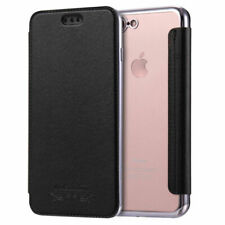 Flip Leather Glossy Transparent Wallet Card Case Cover Bag For iPhone 7 8 Plus X