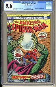 AMAZING SPIDER-MAN #142  CGC 9.6 OWW NM+  Marvel Comics 1975 Mysterio app Romita