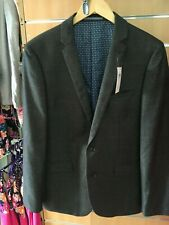 "HARRY BROWN  suit jacket navy 44"" short satin lined bnwt"