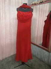 Goya London Red Dress And Scarf