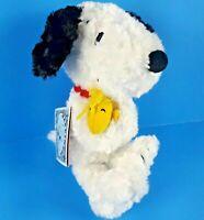 "Happiness is a Hug Hallmark Plush Snoopy Holding Woodstock 12"" Peanuts Dog"