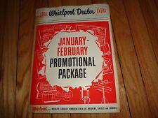 Vintage Whirlpool Dryer Washer Merchandising Kit Poster Advertising