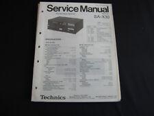 Original Service Manual Technics Rceiver SA-X30