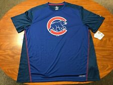 MENS NEW WITH TAGS MAJESTIC COOL BASE CHICAGO CUBS BLUE BASEBALL SHIRT SIZE 2XL
