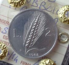 REPUBBLICA ITALIANA 2 LIRE SPIGA 1948 SIGILLATA qFDC numismatica SUBALPINA