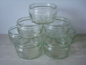 8 x Glass Ramekins - Clear / Ribbed - Refurbished - Weddings, Dips, etc. - Mint