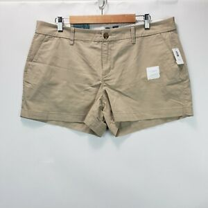 Old Navy Women's Size 14 Beige Chino Style Shorts 3.5 Inseam