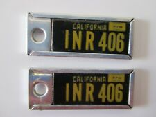 1966 CALIFORNIA LICENSE PLATE KEYCHAIN PAIR DISABLED AMERICAN VETERANS INR 406