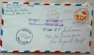 UNITED STATES 1942 PEARL HARBOR COVER RELEASED BY AUTHORITY OF POSTAL CENSOR