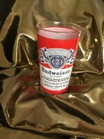 Vintage Budweiser Beer Mug  Drinking Glass 12 oz