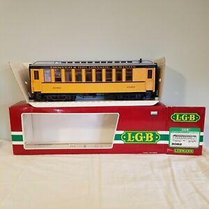 LGB 3082 G Gauge Denver & Rio Grande D&RGW Passenger Coach w/ Box Lehmann Train