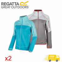 2 x Regatta Sumatra III Womens Warm Backed Softshell Jacket Blue & Grey RRP £70