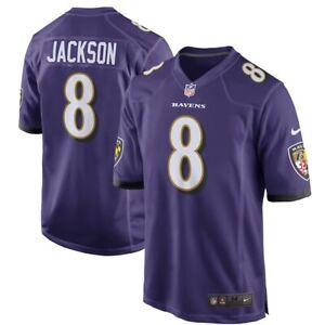 Nike Baltimore Ravens Lamar Jackson Purple Mens Game Player Jersey (S,M,L,XL)