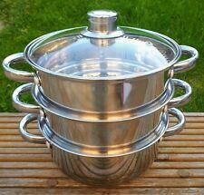 3 Tier Stainless Steel Multi Steamer pots 20cm