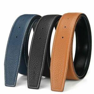 QHA Mens Designer Genuine Leather Belt Strap No Buckle 32mm