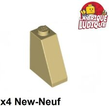 Lego - 4x slope brique pente inclinée 65 2x1x2 beige/tan 60481 NEUF